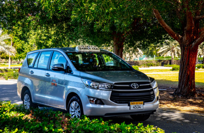 family taxi cab service in Abu Dhabi
